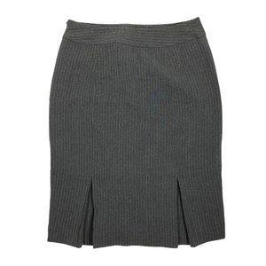 Ann Taylor 2 Skirt Gray Striped Lined Pencil Strai